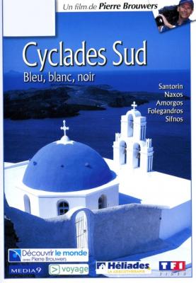Cyclades Sud, bleu, blanc, noir